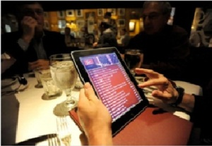 iPad restaurant menu