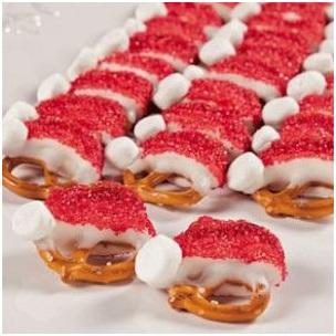 Santa Pretzels