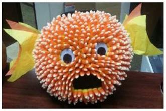 Candy Corn Fish Pumpkin