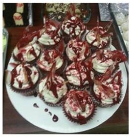 Red Velvet Glass Cupcakes