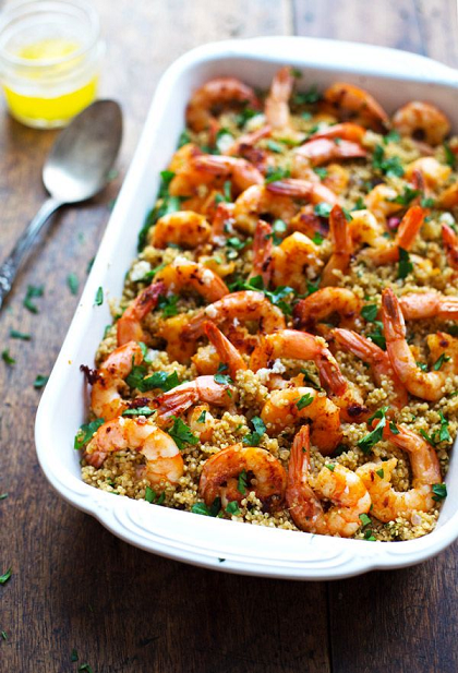 Garlic Butter Shrimp and Quinoa Recipe