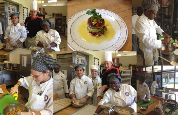 Chef Brian Rutherford teaching his students at Sheridan Technical Center