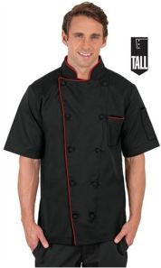 Men's TALL Traditional Fit Short Sleeve Chef Coat; Style #  T66516