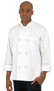 Uncommon Threads Economy Traditional Fit Chef Coat - Pearl Buttons - 65/35 Poly/Cotton; Style # 400 found on Chefuniforms.com