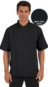 Basic Fit Short Sleeve Chef Coat - Snap Front - 65/35 Poly/Cotton Twill; Style #  64717 found on Chefuniforms.com