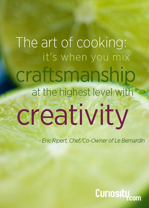 Chef Quote - The art of cooking by Eric Ripert