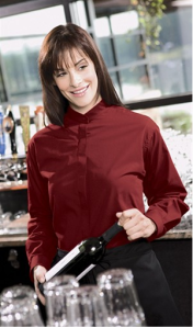 Pantone Color for 2015 - Marsala - Chefuniforms Style E5396 - Burgundy