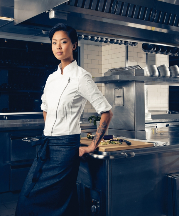 Chef Advice and Words of Wisdom from Chef Kristen Kish found on blog.chefuniforms.com