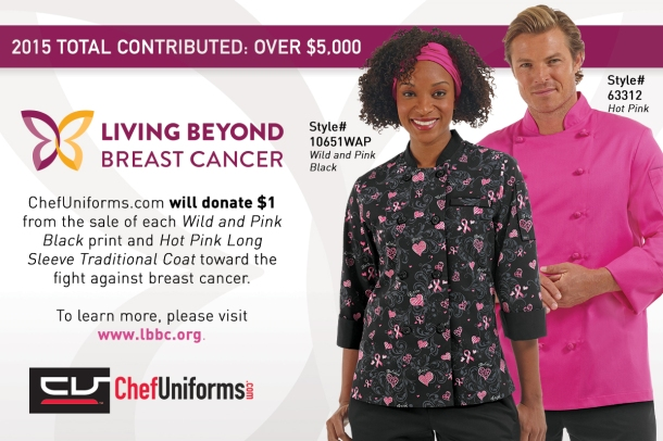 ChefUniforms.com partners with Living Beyond Breast Cancer