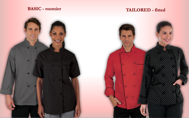 How to Choose the Right Chef Coat and Fit with Chefuniforms.com_Basic & Tailored Fit