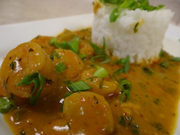 Chef Ace Champion's Na' lands style Shrimp Etouffee - ChefUniforms.com Jan. 2016 Chef of the Month
