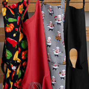 ChefUniforms.com has many different styles and colors of restaurant aprons to choose from. You can also select from our selection of print chef aprons including houndstooth, chalk stripe, and much more.